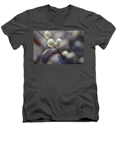 Flower Bokeh Men's V-Neck T-Shirt