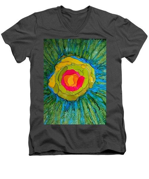 Flower Burst Men's V-Neck T-Shirt