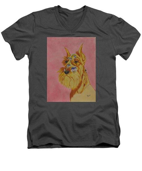 Flower Dog 9 Men's V-Neck T-Shirt