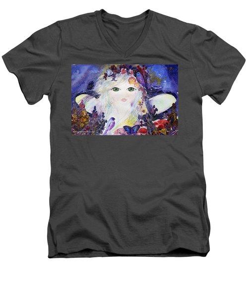 Flower Fairy Men's V-Neck T-Shirt