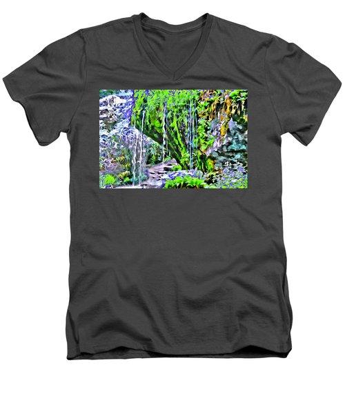 Flower Falls Men's V-Neck T-Shirt