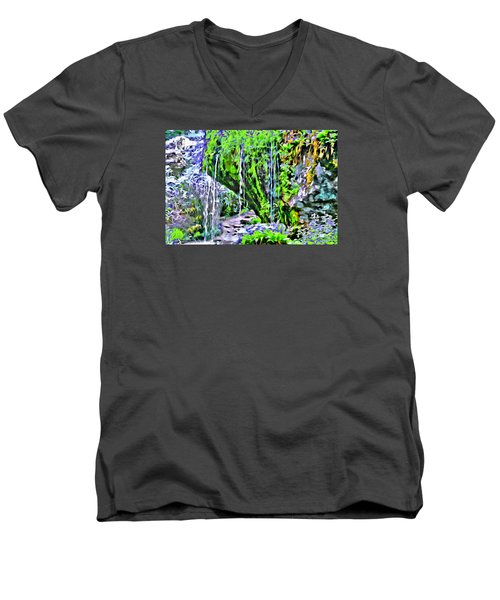 Flower Falls Men's V-Neck T-Shirt