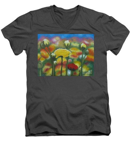 Flower Focus Men's V-Neck T-Shirt