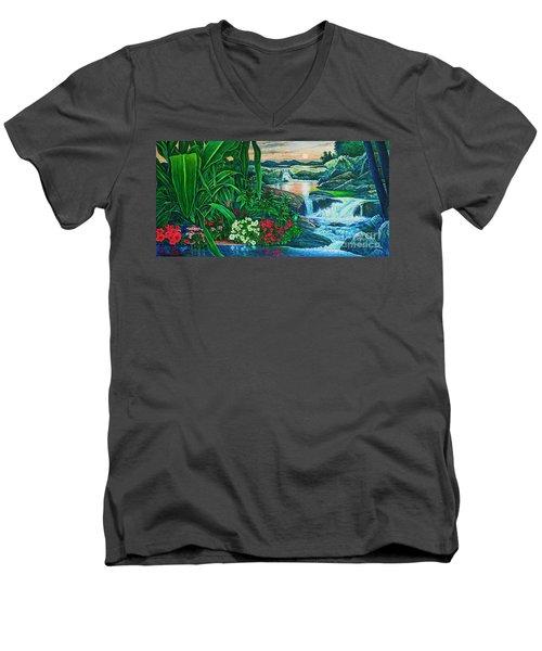 Flower Garden Ix Men's V-Neck T-Shirt by Michael Frank