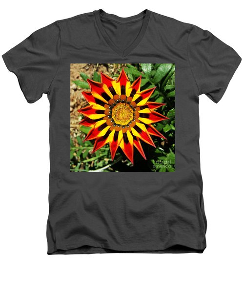 Flower -  Made In Nature Men's V-Neck T-Shirt by Jasna Gopic