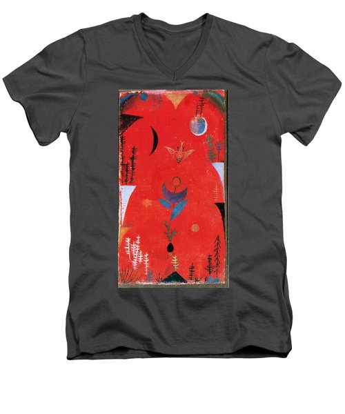 Flower Myth Men's V-Neck T-Shirt by Paul Klee