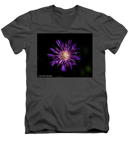 Flower Or Firework Men's V-Neck T-Shirt by Stefanie Silva