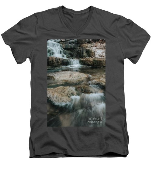 Men's V-Neck T-Shirt featuring the photograph Flower Park by Iris Greenwell