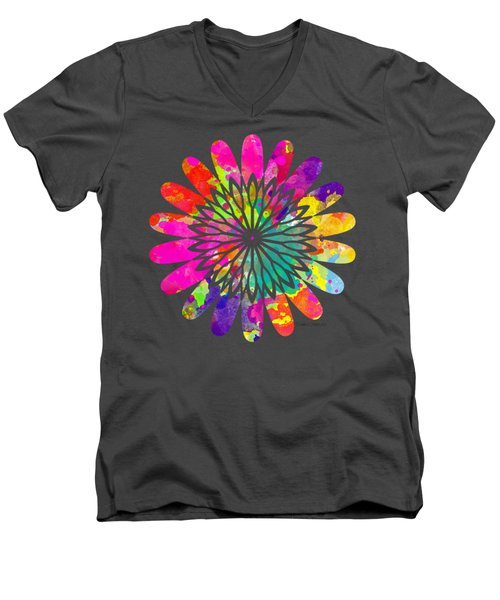 Flower Power 3 - Tee Shirt Design Men's V-Neck T-Shirt by Debbie Portwood