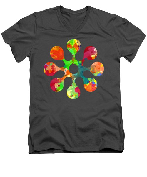 Flower Power 4 - Tee Shirt Design Men's V-Neck T-Shirt by Debbie Portwood