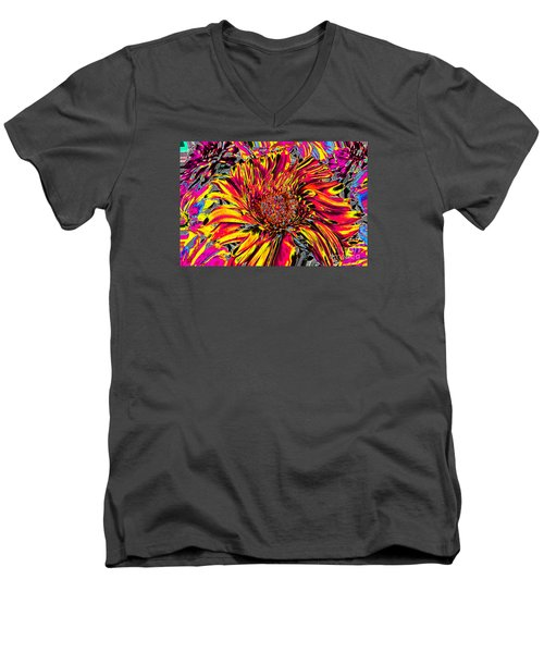 Flower Power II Men's V-Neck T-Shirt