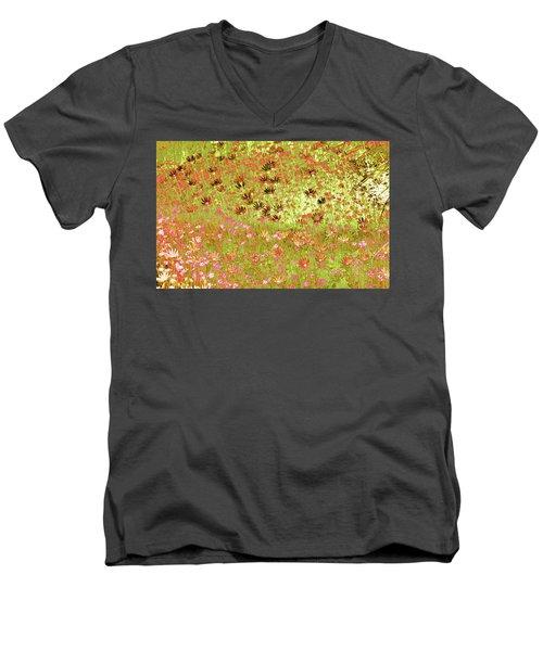 Flower Praise Men's V-Neck T-Shirt