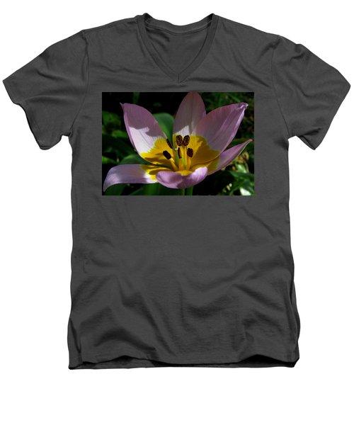Flower Shadows Men's V-Neck T-Shirt