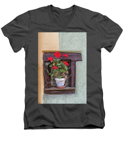 Men's V-Neck T-Shirt featuring the photograph Flower Still Life by Alan Toepfer