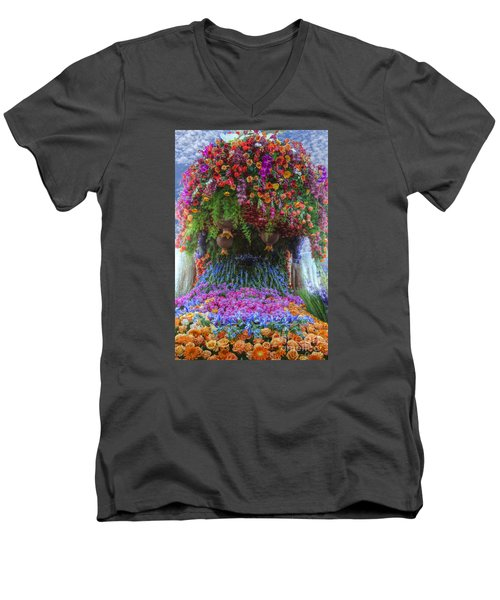 Flower Wave Men's V-Neck T-Shirt