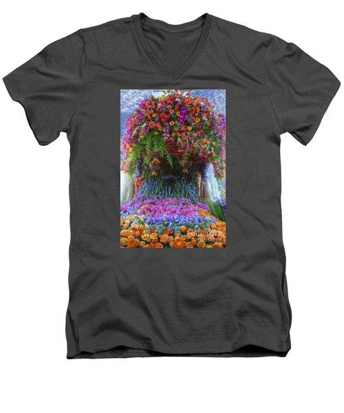 Flower Wave Men's V-Neck T-Shirt