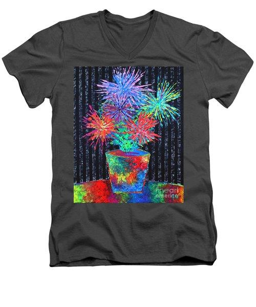 Flower-works Plant Men's V-Neck T-Shirt