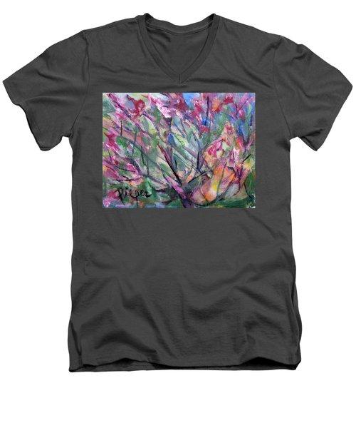 Flowering Men's V-Neck T-Shirt