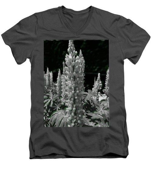 Flowering Green Aura Men's V-Neck T-Shirt