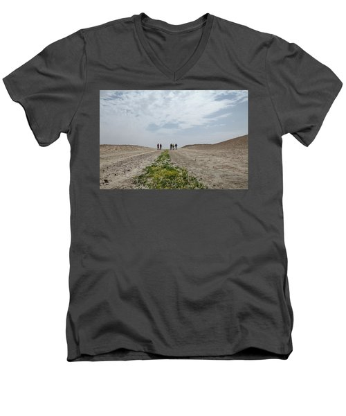 Flowering In The Desert Men's V-Neck T-Shirt