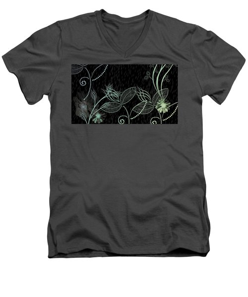 Flowers And Rain Men's V-Neck T-Shirt