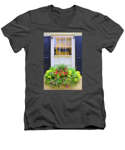 Flowers And Reflections Men's V-Neck T-Shirt