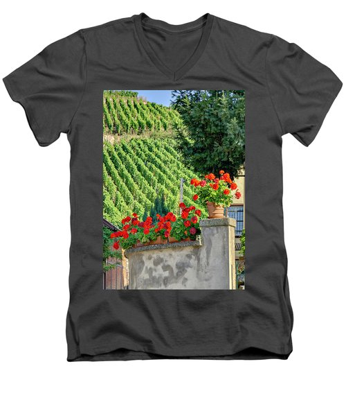 Men's V-Neck T-Shirt featuring the photograph Flowers And Vines by Alan Toepfer