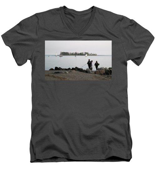 Flowers For The Lady Men's V-Neck T-Shirt