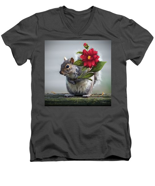 Flowers For You Men's V-Neck T-Shirt by Brian Wallace