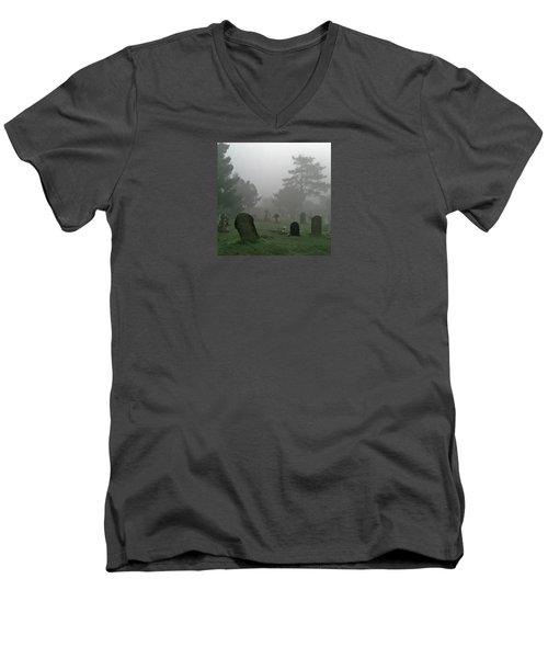 Flowers In The Mist Men's V-Neck T-Shirt by Anne Kotan