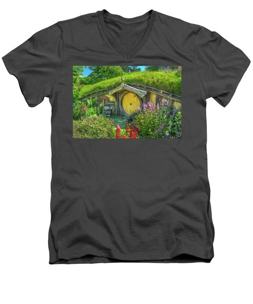 Flowers In The Shire Men's V-Neck T-Shirt