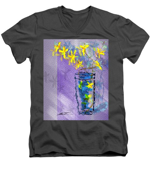 Flowers In Vase Men's V-Neck T-Shirt