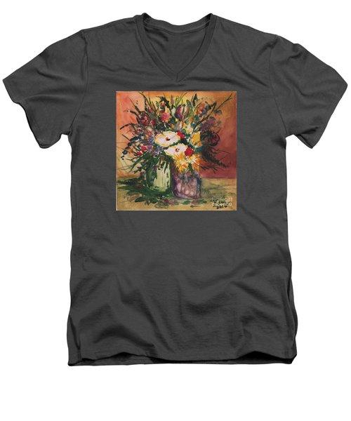Flowers In Vases Men's V-Neck T-Shirt
