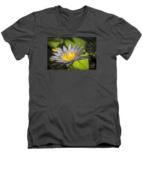 Flowers Of Grey Men's V-Neck T-Shirt