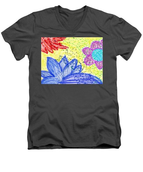 Flowery Lotus Men's V-Neck T-Shirt