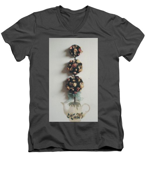 Flowery Teapot Men's V-Neck T-Shirt