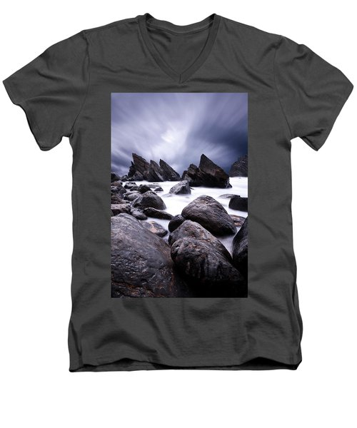 Men's V-Neck T-Shirt featuring the photograph Flowing by Jorge Maia