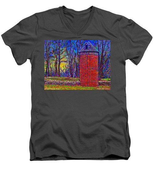 Floyd,virginia Tower Men's V-Neck T-Shirt