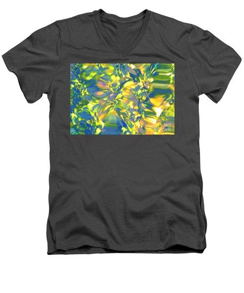 Fluttering Of Color Men's V-Neck T-Shirt