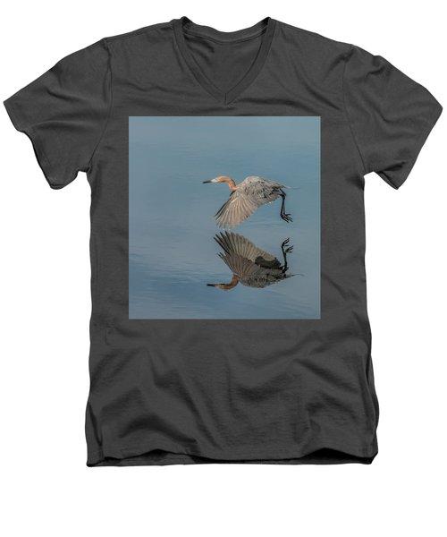 Fly By Reflection Men's V-Neck T-Shirt