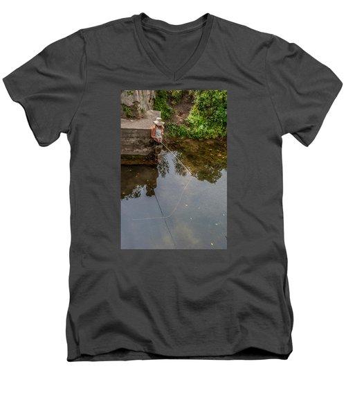 Fly Fisher Gal Men's V-Neck T-Shirt