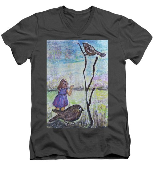 Fly, Fly Away Men's V-Neck T-Shirt