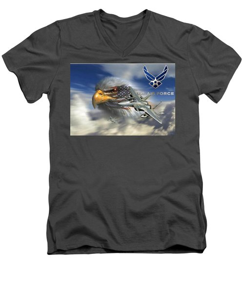 Fly Like The Eagle Men's V-Neck T-Shirt by Ken Pridgeon