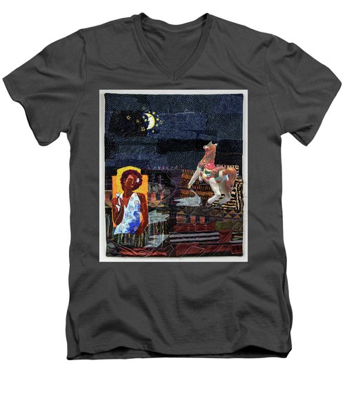 Fly Me To The Moon Men's V-Neck T-Shirt