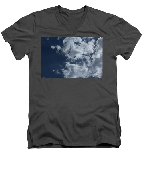 Men's V-Neck T-Shirt featuring the photograph Fly Me To The Moon by Megan Dirsa-DuBois