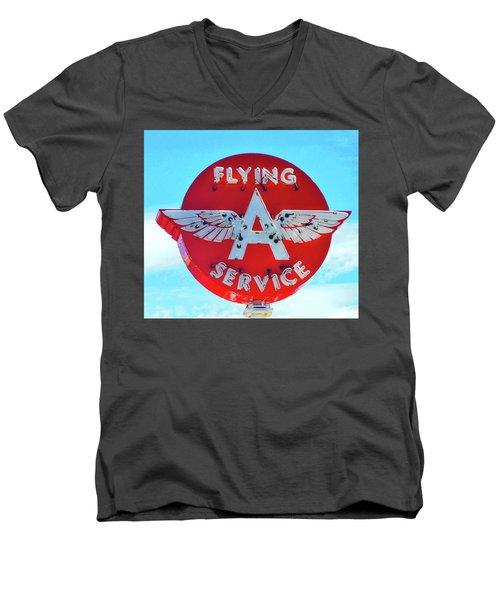 Flying A Service Sign Men's V-Neck T-Shirt