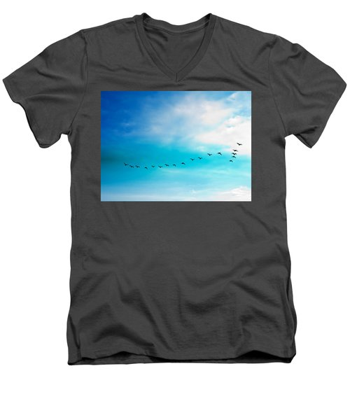 Flying Away Men's V-Neck T-Shirt