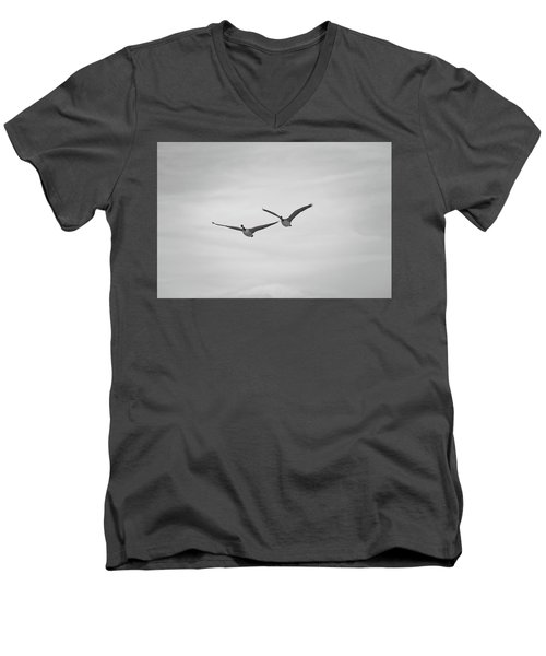 Flying Companions Men's V-Neck T-Shirt by Jason Coward