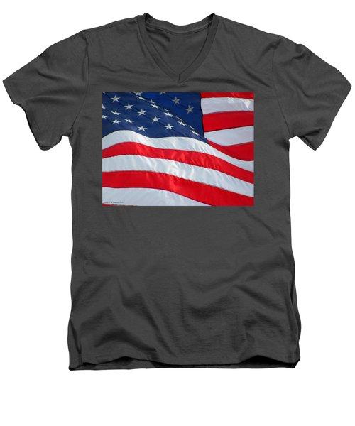 Flying Free Men's V-Neck T-Shirt