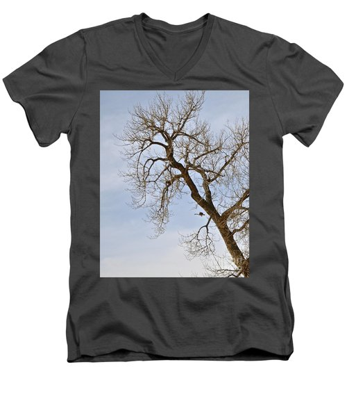 Flying Goose By Great Tree Men's V-Neck T-Shirt